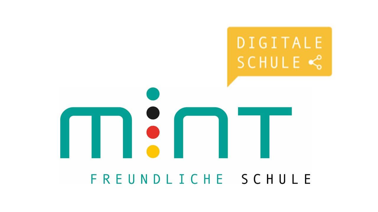 Die Signets MINT-freundliche Schule und Digitale Schule werden durch die Initiative MINT Zukunft schaffen! verliehen.