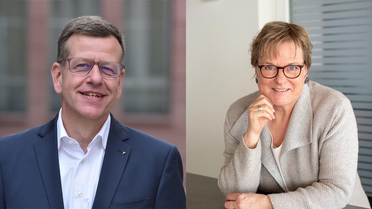 Andreas Siebe übergibt die Leitung des Arbeitskreises Unternehmertum an Elisabeth Terodde