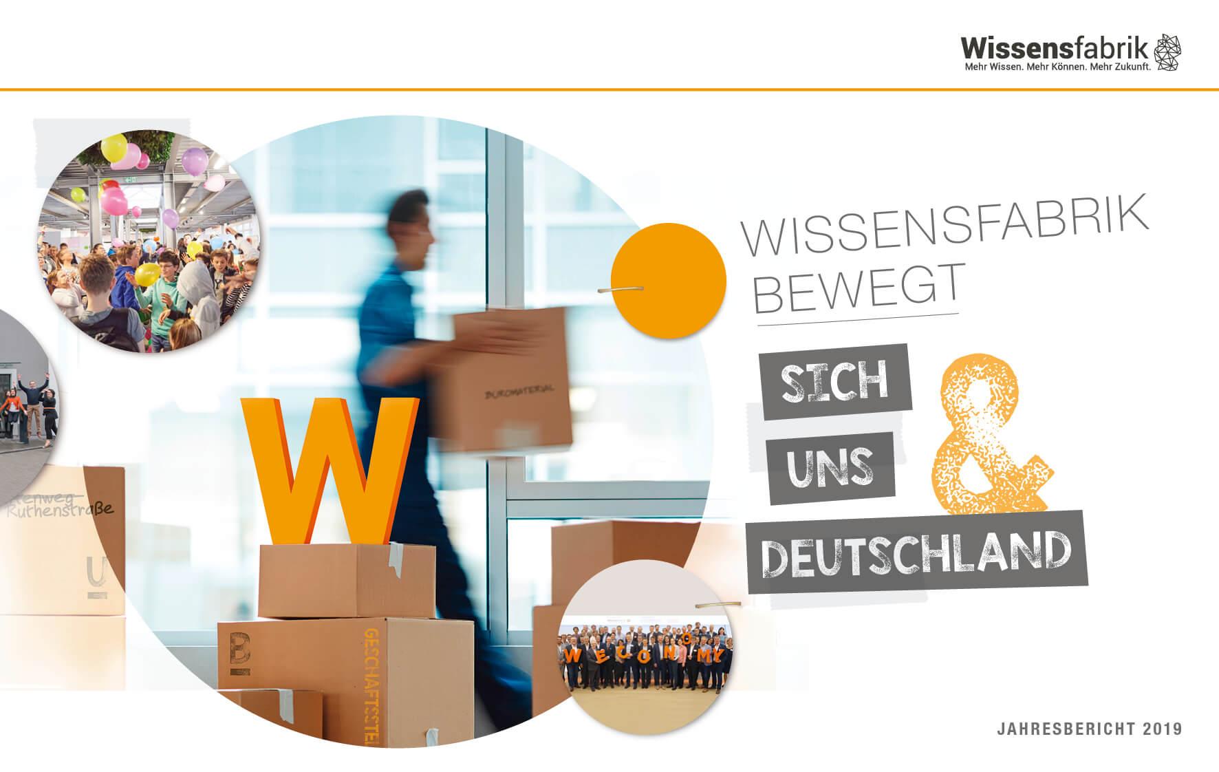Titelseite des Wissensfabrik-Jahresberichts 2019
