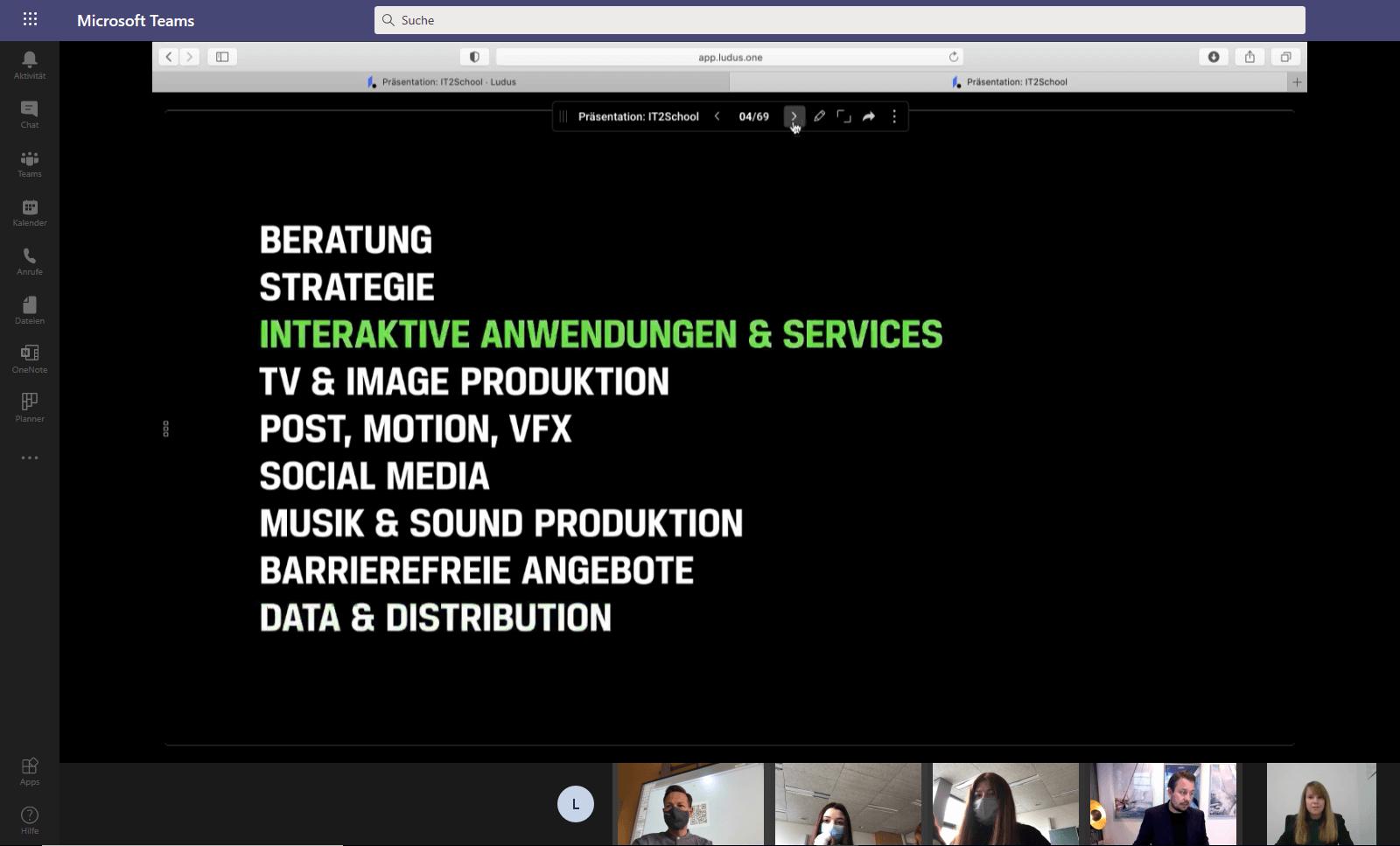 Screenshot Videokonferenz zu IT