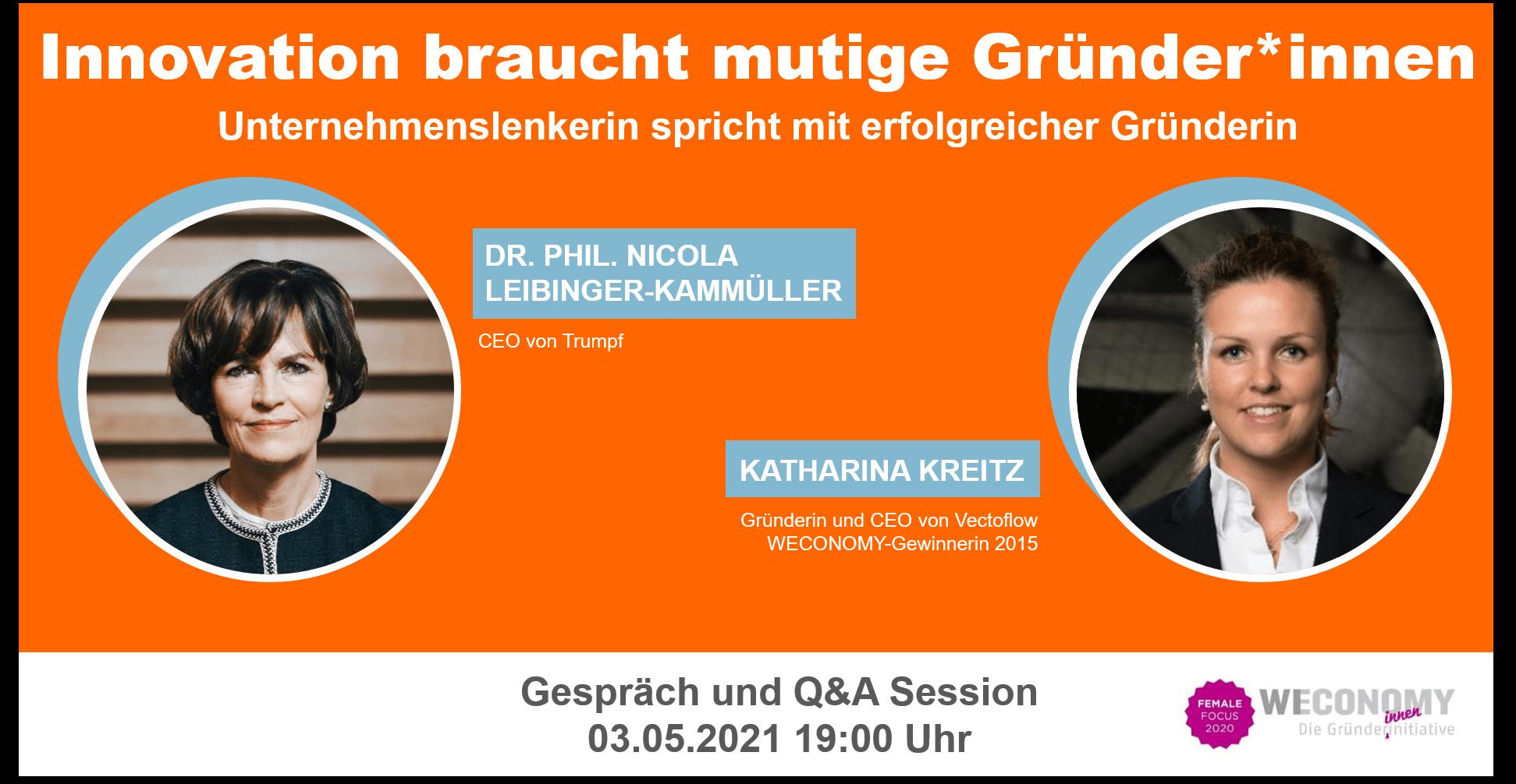 inspirierender Doppelpack: Nicola Leibinger-Kammüller und Katharina Kreitz