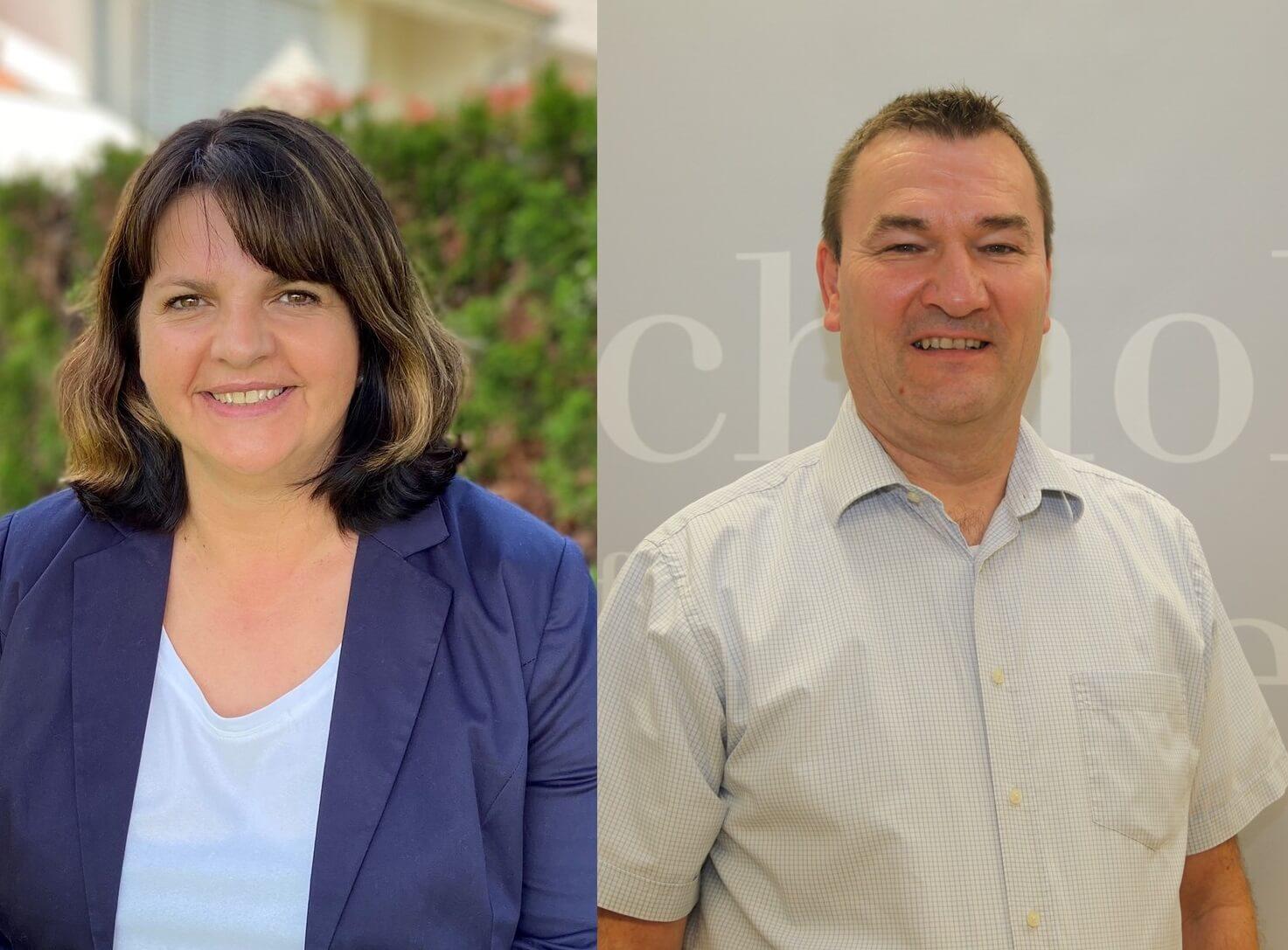 Olivera Haas und Eric Böhmfeld, die Leiter des Arbeitskreises Bildung der Wissensfabrik